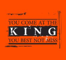 """""""You Come at the King, You Best Not Miss"""" - The Wire (Dark) Kids Clothes"""