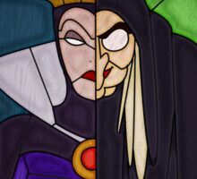 Mirror mirror - stained glass villains Sticker