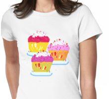 THREE MUFFINS  T SHIRT/STICKER/ART Womens Fitted T-Shirt