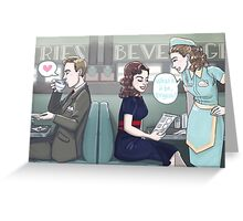 Agent Carter - Cozy Diner Times Greeting Card