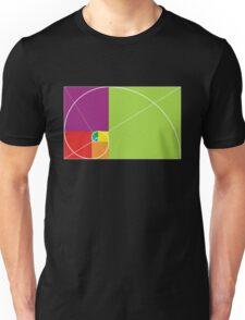 Golden ratio spiral Unisex T-Shirt