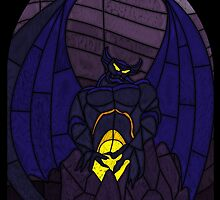Demon in the mountain - Stained glass villains by UncleFrogface