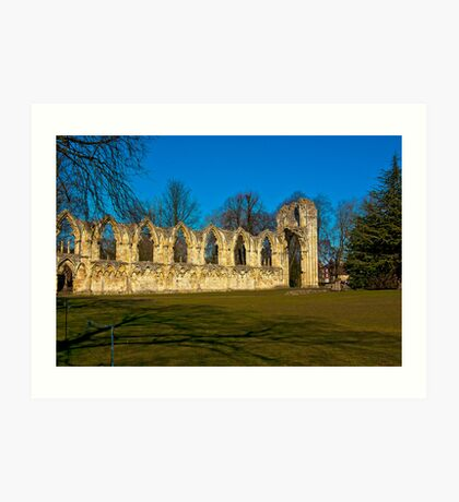 Ruins of St Mary's Abbey  -  York Art Print