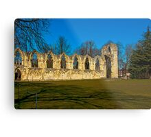 Ruins of St Mary's Abbey  -  York Metal Print