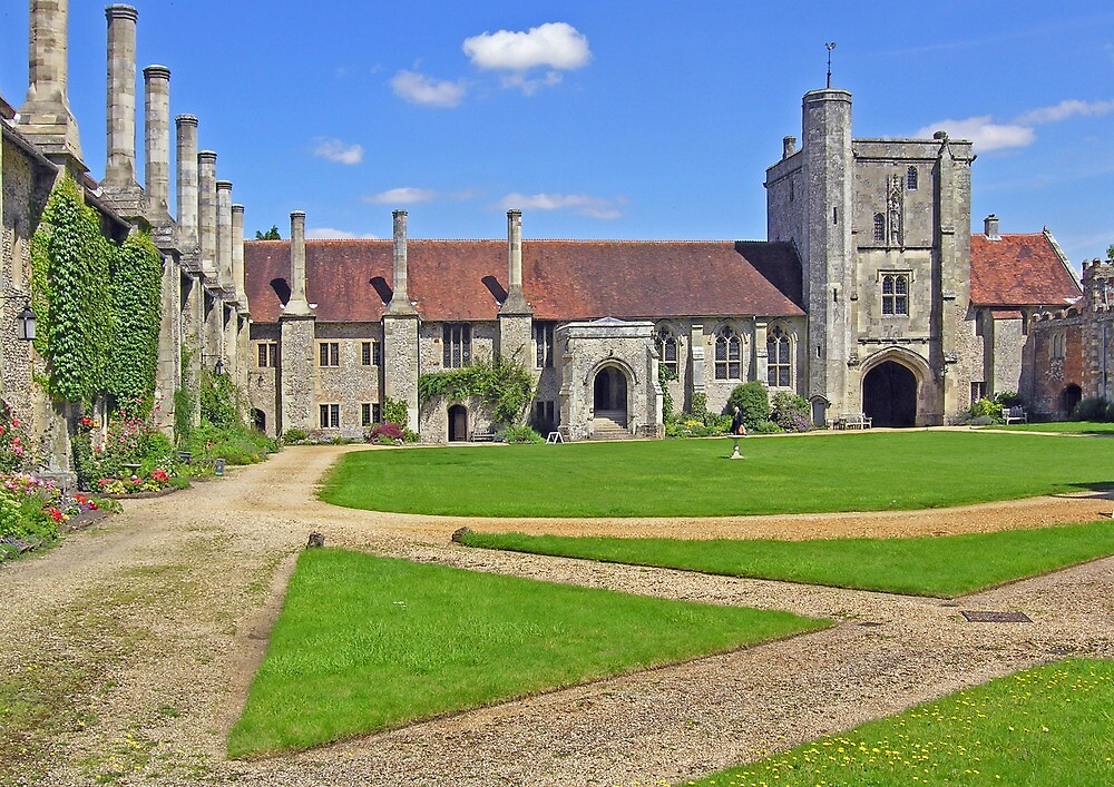 The main quadrangle, Hospital of St Cross, Winchester, southern England by Philip Mitchell