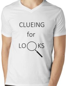 Clueing for Looks Mens V-Neck T-Shirt