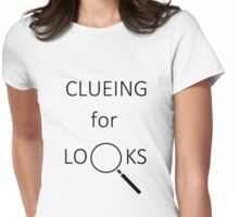 Clueing for Looks Womens Fitted T-Shirt