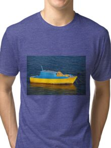 Fishing boat, Halki Tri-blend T-Shirt