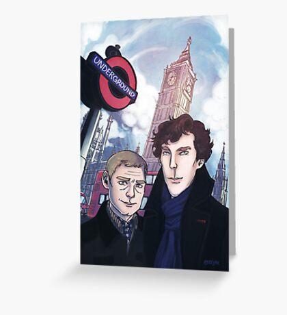 Sherlock and John in London Greeting Card
