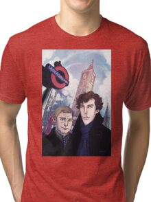 Sherlock and John in London Tri-blend T-Shirt