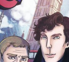 Sherlock and John in London Sticker