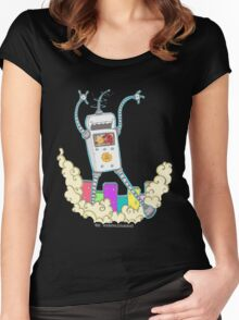 Be Careful. Colourful Robots! Women's Fitted Scoop T-Shirt