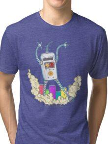Be Careful. Colourful Robots! Tri-blend T-Shirt