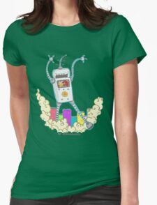 Be Careful. Colourful Robots! Womens Fitted T-Shirt