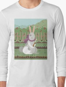 rabbit with a carrot Long Sleeve T-Shirt
