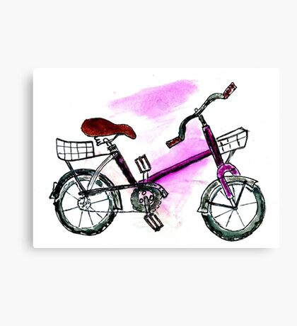 Painted Bicycle Canvas Print