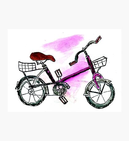 Painted Bicycle Photographic Print