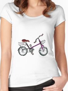 Painted Bicycle Women's Fitted Scoop T-Shirt