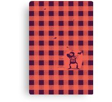 Almost a lumberjack pattern Canvas Print