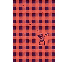 Almost a lumberjack pattern Photographic Print