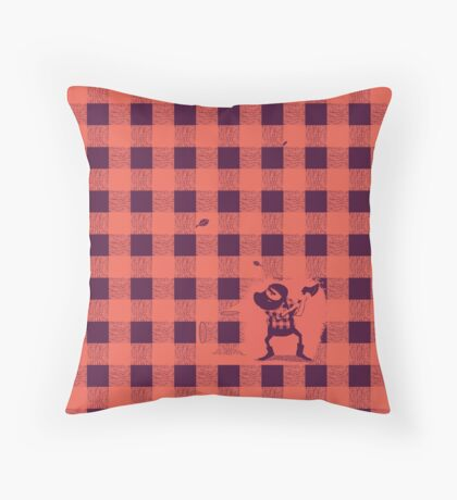 Almost a lumberjack pattern Throw Pillow