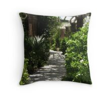Pathway by the Garden Throw Pillow