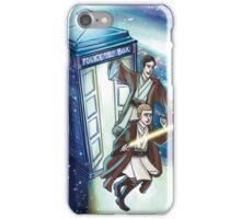 Sherlock and John - Jedi in the Tardis iPhone Case/Skin