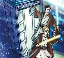 Sherlock and John - Jedi in the Tardis by enerjax