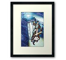 Sherlock and John - Jedi in the Tardis Framed Print