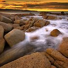 Sunset Rocks - Bicheno Tasmania by Hans Kawitzki