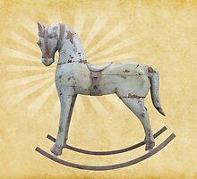 Vintage rocking horse by lightwanderer