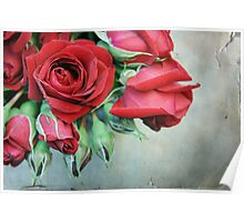 Romantic Red Roses Poster