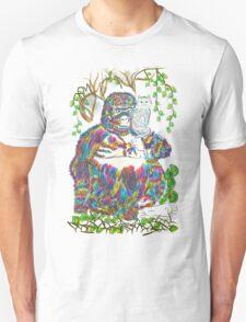 Vibrant Jungle Gorilla and Pet Cat T-Shirt