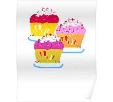 Three Muffins Poster