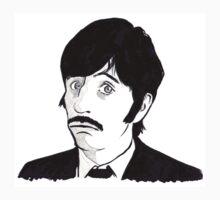 Ringo Starr Monochrome Illustration Kids Clothes