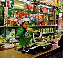 Tea shop, Beijing, China by Andrew Jones