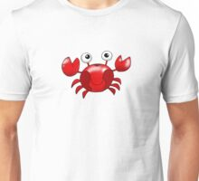 Cute red crab cartoon Unisex T-Shirt