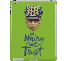 In Nairo We Trust : Illustration on Movistar Green iPad Case/Skin