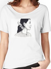 Aung San Suu Kyi Illustration Women's Relaxed Fit T-Shirt