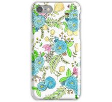 Blue Wild Flowers iPhone Case/Skin