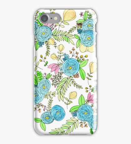 Blue Wild Flowers iPhone Case/Skin