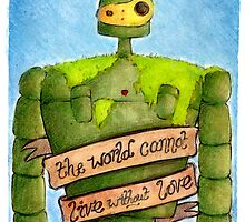 Laputa: Castle In The Sky Illustration - ROBOT by sianbrierley