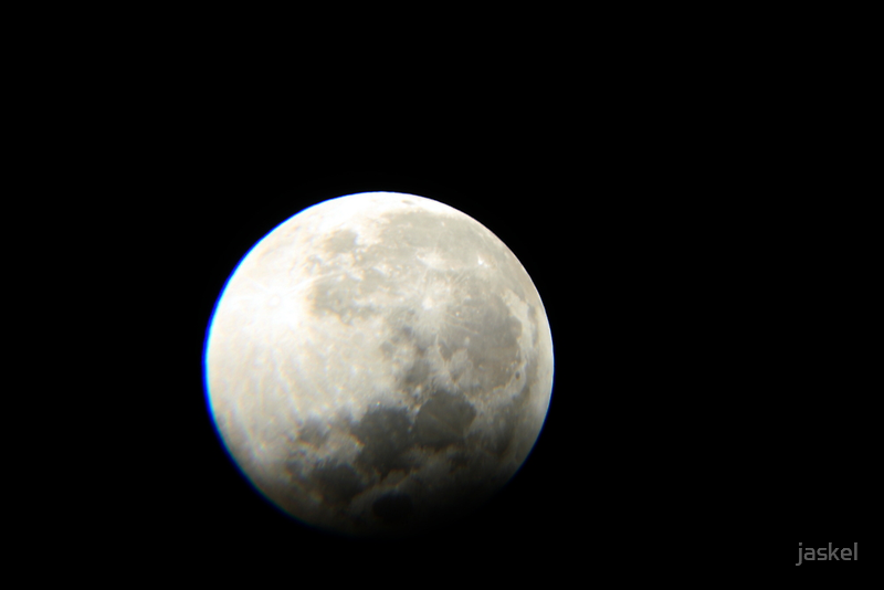 moon partial eclipse by jaskel