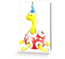 Shuckle in a Party Hat Greeting Card