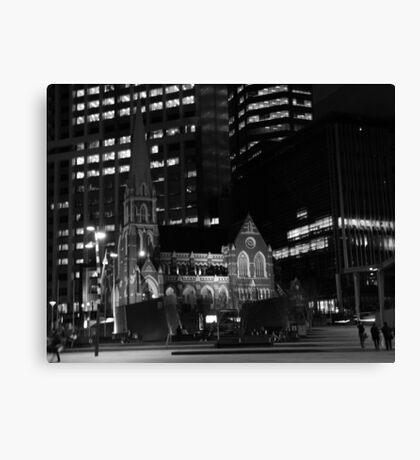Monochrome Church Canvas Print