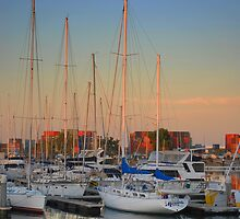 Marina sunset by Jeff Reid