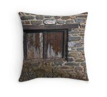 Wooden Door - Clovelly, North Devon Throw Pillow