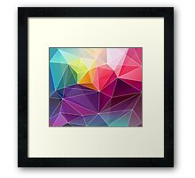 Geometric Background Abstract Colorful  Diamond Triangles Pattern Framed Print