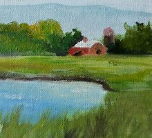 Barn in the marshes by Trilbycole