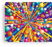 Colorful explode Canvas Print